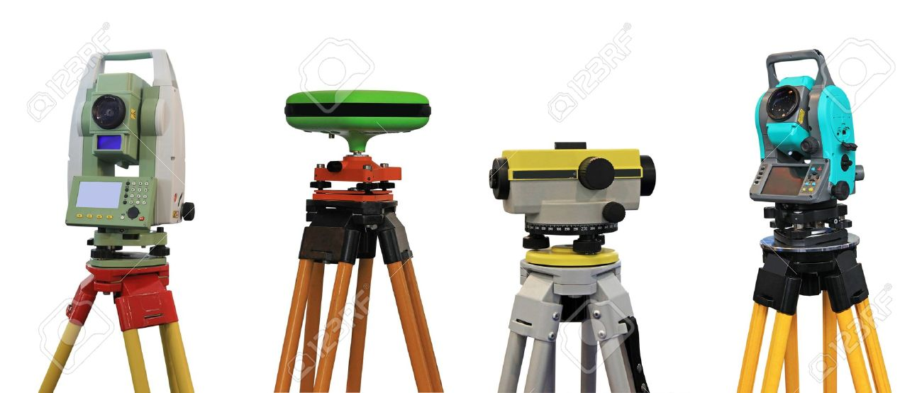 12753757-collection-of-devices-for-a-geodesy-and-cartography-stock-photo