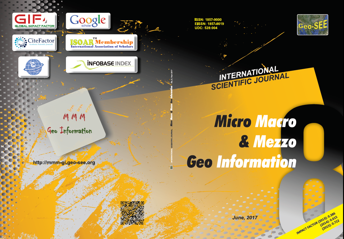 International Scientific Journal Micro Macro & Mezzo Geo Information